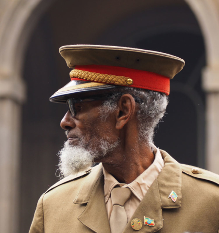 A veteran of the Italian-Ethiopian war in Addis Ababa.