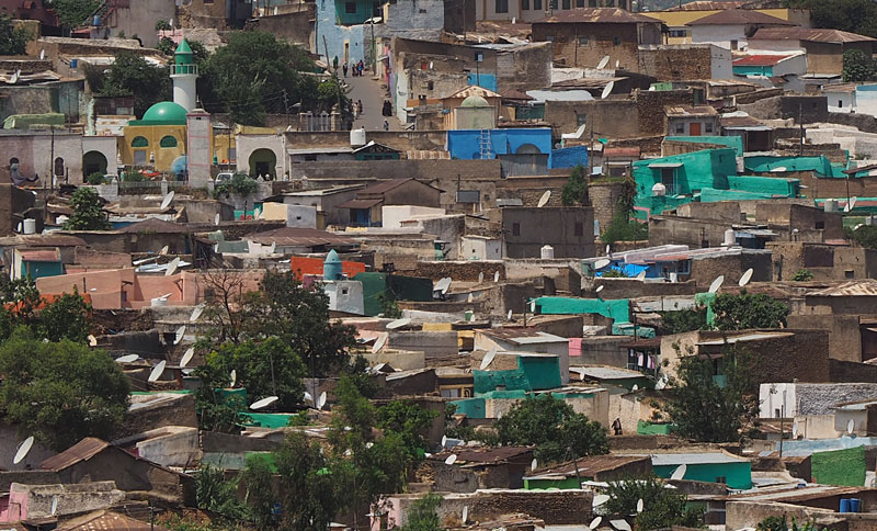 The Jugol (old town) of Harar is a maze of 368 alleyways and innumerable colourful houses squeezed into one square kilometre.