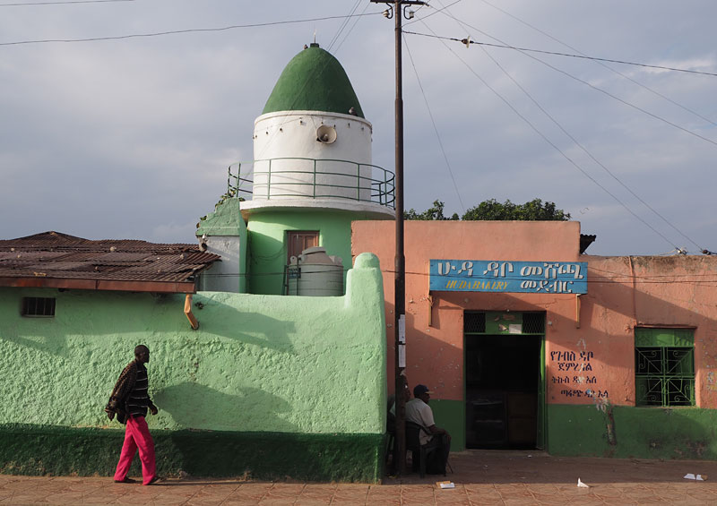 Street scene in Harar's old town, which boasts 82 mosques in just one square kilometre.