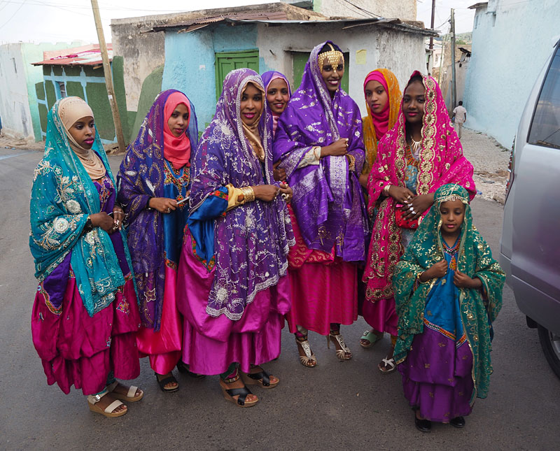 A colourful wedding party in Harar, eastern Ethiopia.