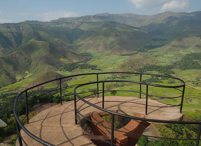 A lookout at Ben Abeba restaurant in Lalibela.