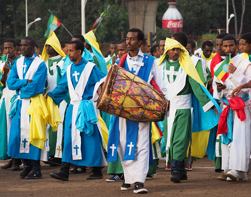 Meskel is a feast of colours and costumes.