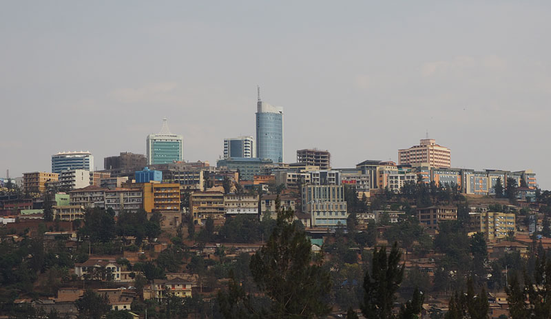 Kigali's modern skyline testifies to the country's rebuilding since the 1994 genocide.