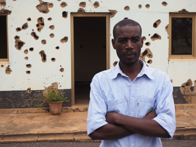 Caretaker at Camp Kigali, where 12 Belgian peacekeepers were the first victims of the 1994 genocide.