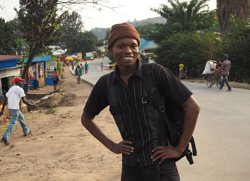 Patrick, a charming young man who befriended me in Gisenyi.