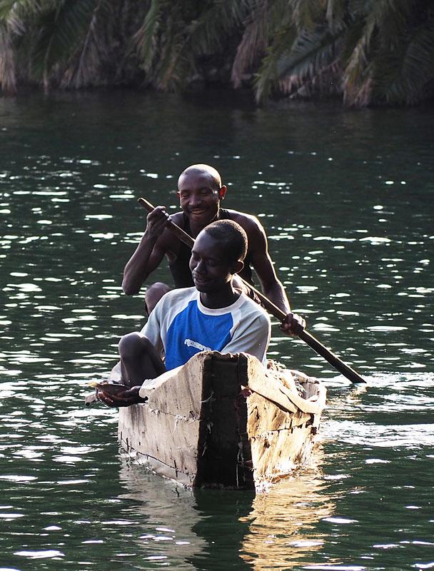 Fishermen on Lake Kivu.