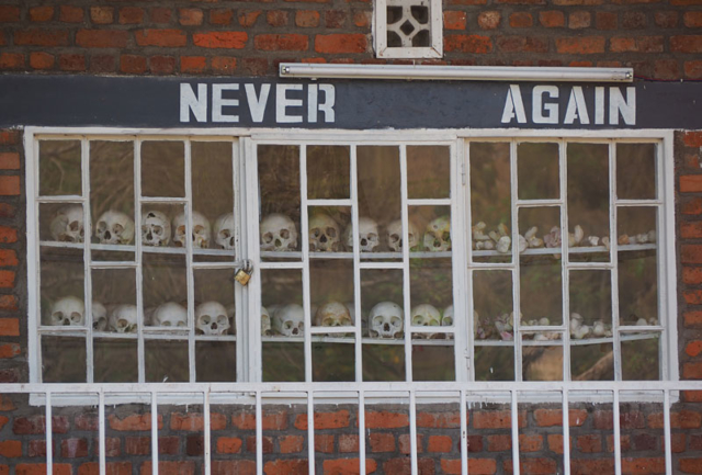 Genocide memorial at St Jean Catholic Church, a massacre site in Kibuye.