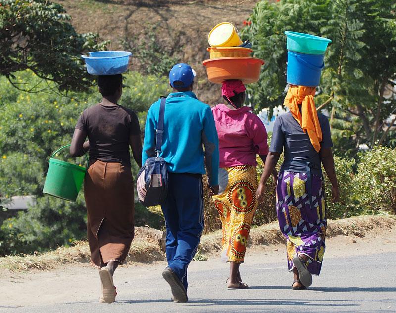 Street scene in Gisenyi.