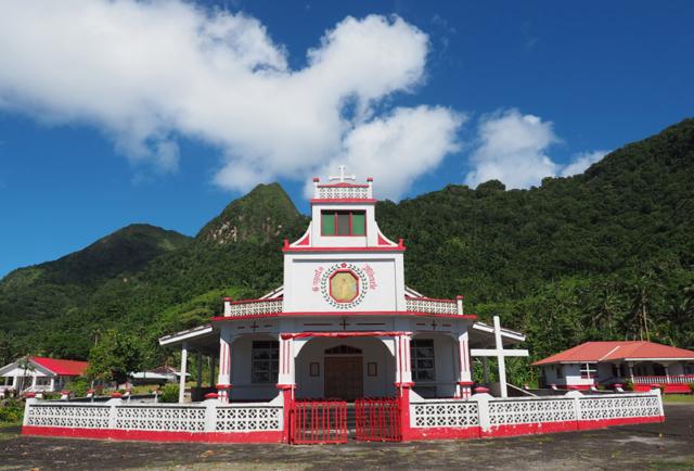 A colourful church in Afono vilage.