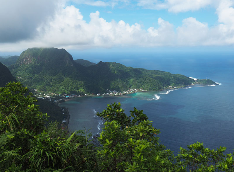 View over Pago Pago Harbour from Mt Alava.