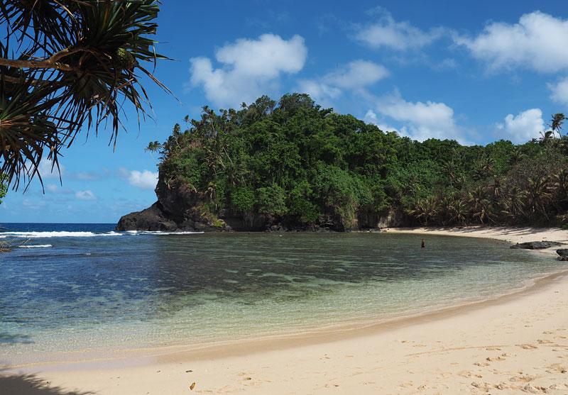 Fogama'a Beach, part of the National Marine Sanctuary of American Samoa.