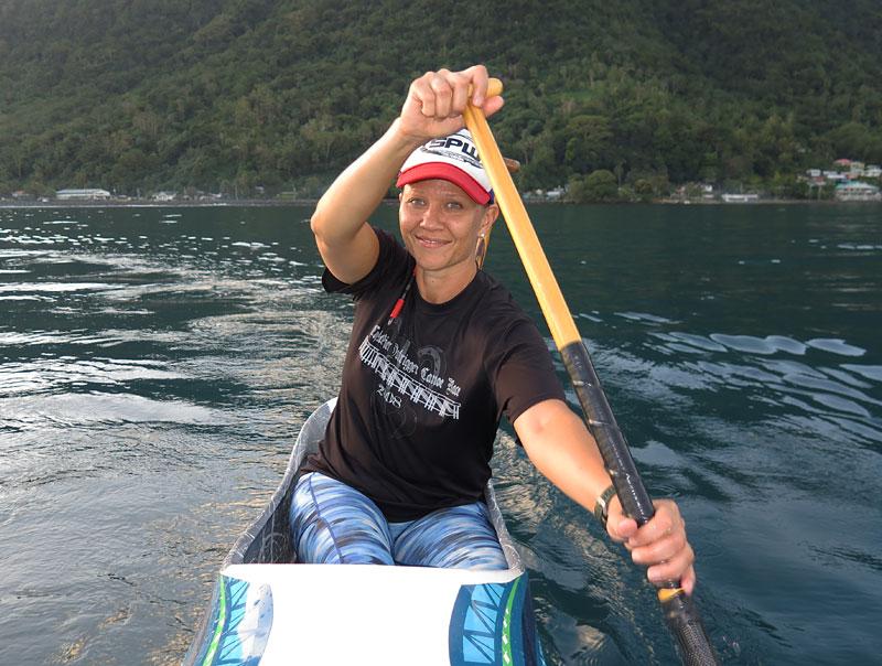 Le Vasa Outrigger Canoe Club founder Paula Stevenson.