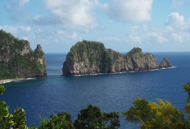Pola Island, the top seabird nesting site on Tutuila.