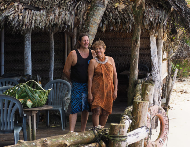 Candyman and Tisa, owners of the famous Tisa's Barefoot Bar.