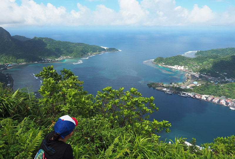 The top of Mt 'Alava (490m) offers superb views over Pago Pago Harbour