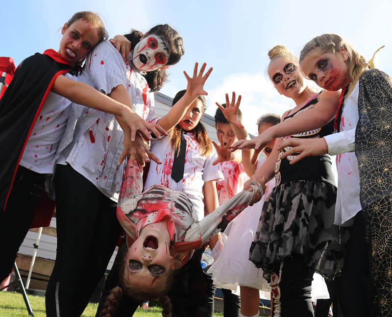 Young performers from DDF Dance Studio at Kerikeri Primary School's Monster Mash
