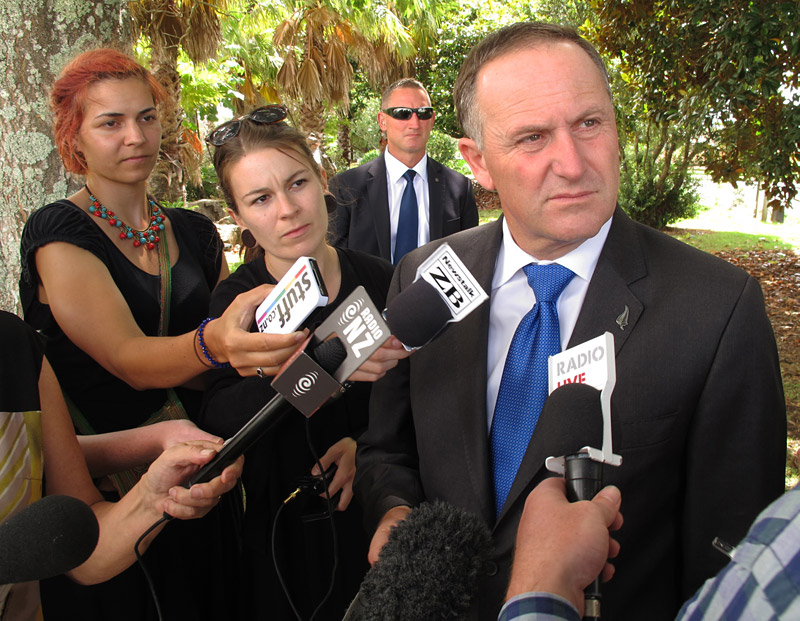Prime Minister John Key appears unimpressed by a line of questioning
