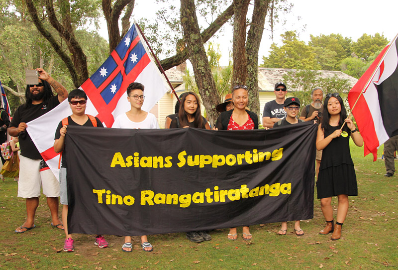 One of the more curious groups at Waitangi. Tino rangatiratanga translates as Māori sovereignty.