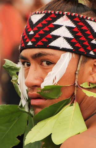 Kane Rapana in Waitangi Day finery