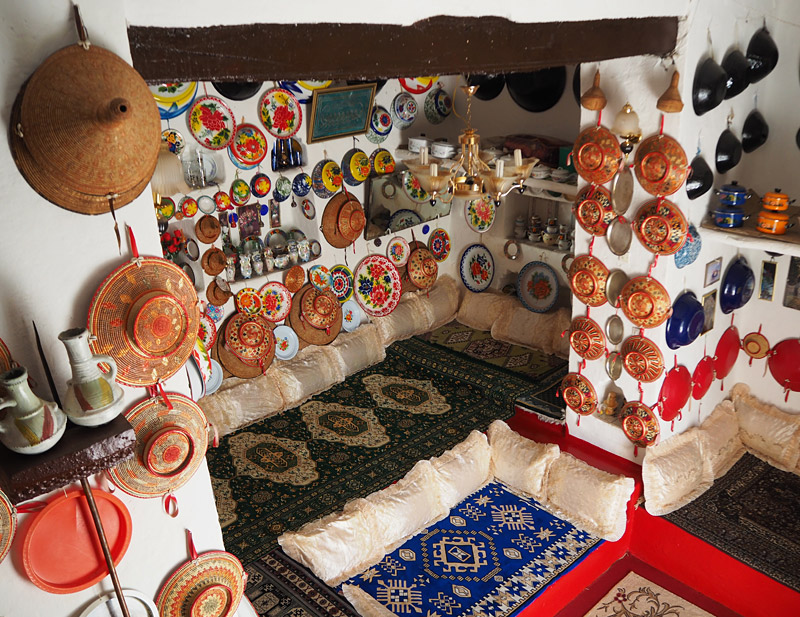 Interior of a traditional Harari home, Ethiopia