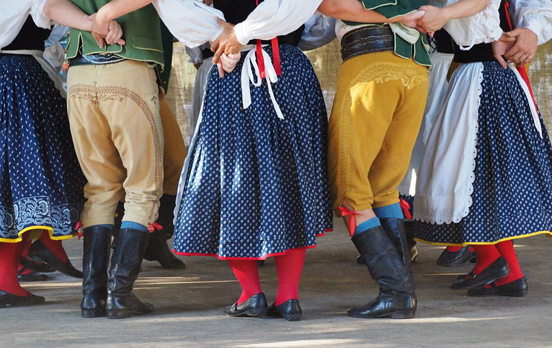 A South Bohemian cultural group performs a traditional dance