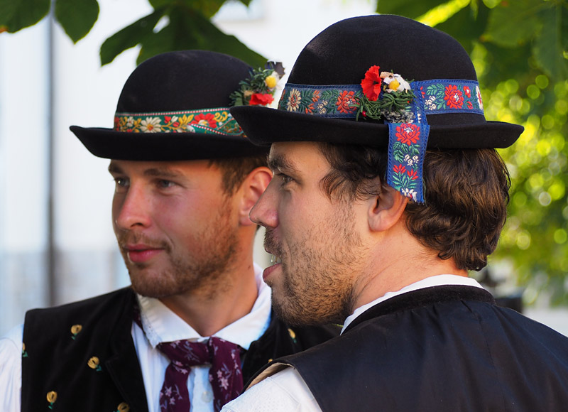 South Bohemian musicians in traditional dress