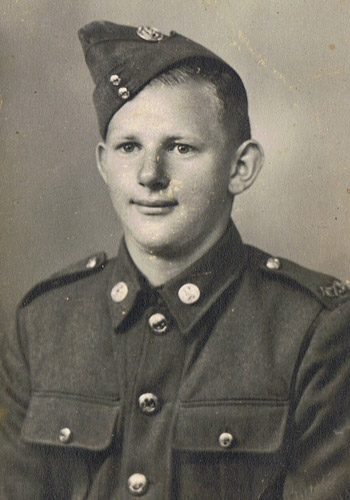 Bill Guest as an 18-year-old in the Territorials