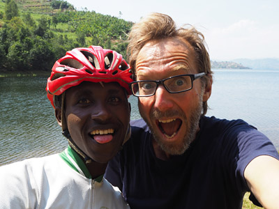 Yannick and the author at Lake Burera