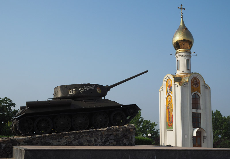 Tiraspol's Tank Monument honours the soldiers of World War II