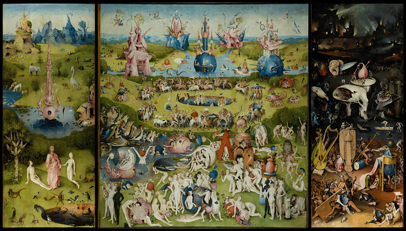 The Garden of Earthly Delights by Hieronymus Bosch (c 1450-1516)