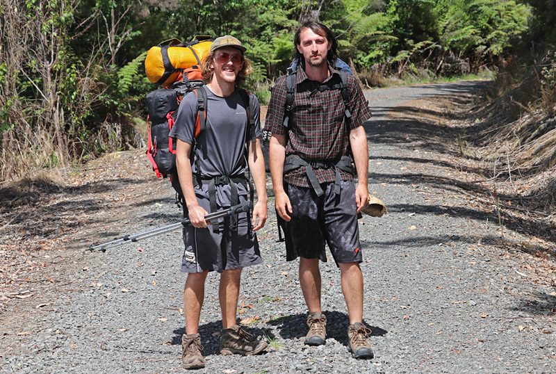 Mitch Fowler and Olaf Flint, New Zealand, in Waitangi Forest