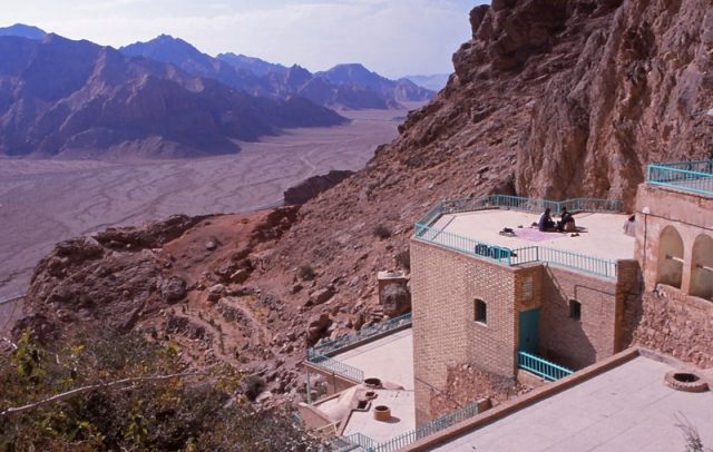 A Zoroastrian temple at Chakchak, in the desert 70km from Yazd
