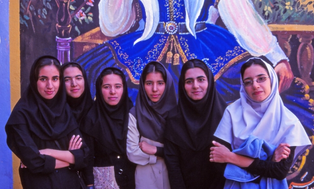 Girls  in Kerman, southeastern Iran
