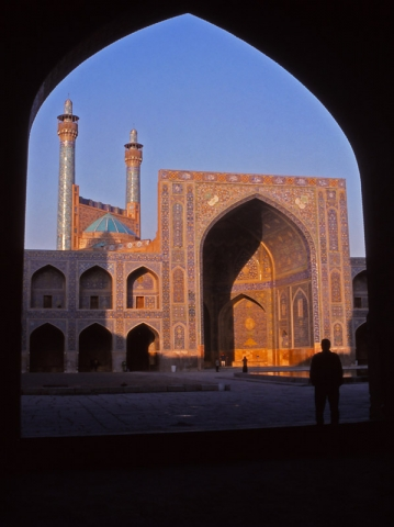 View across the courtyard of the 17th century Imam Mosque in Esfahan