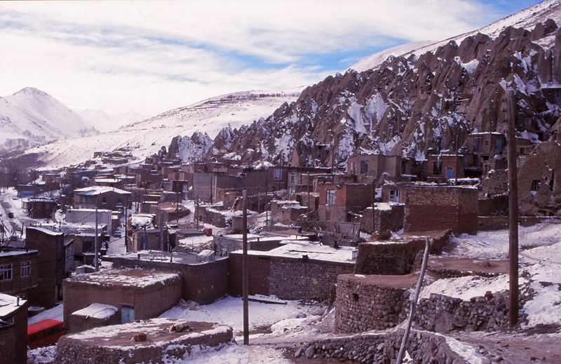 In Kandovan, northwest Iran, villagers have built homes in hollowed-out cones of volcanic rock