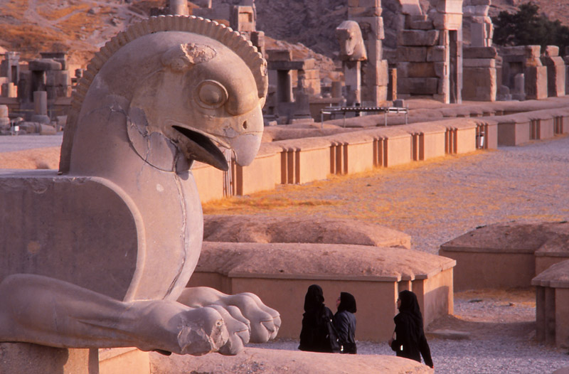 Statue of a griffin in the ruins of Persepolis (518-330BC)