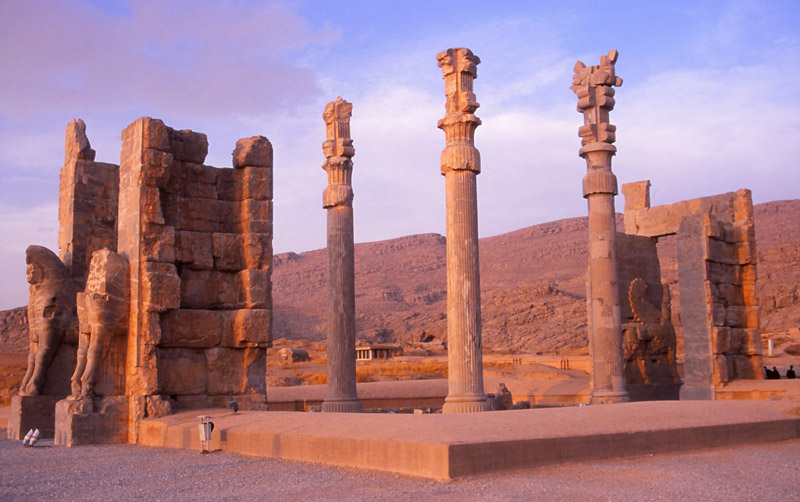 Ruins of the Gate of All Nations, built by Xerxes I around 480BC, Persepolis.