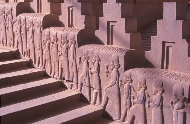 Bas-relief carvings on Persepolis' famous Apadana staircase look as sharp as they did 2500 years ago