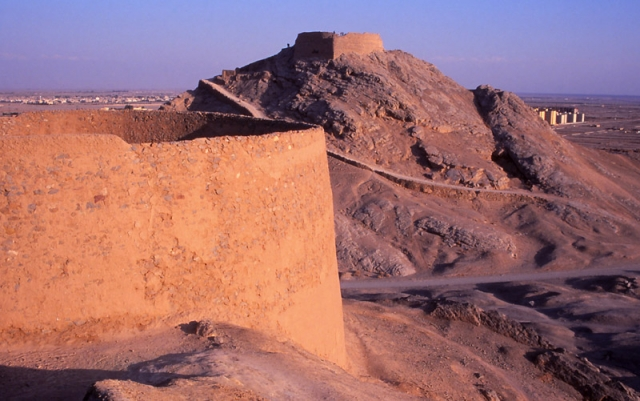 Until the 1960s followers of Zoroastrianism left their dead to be picked clean by vultures at these Towers of Silence near Yazd
