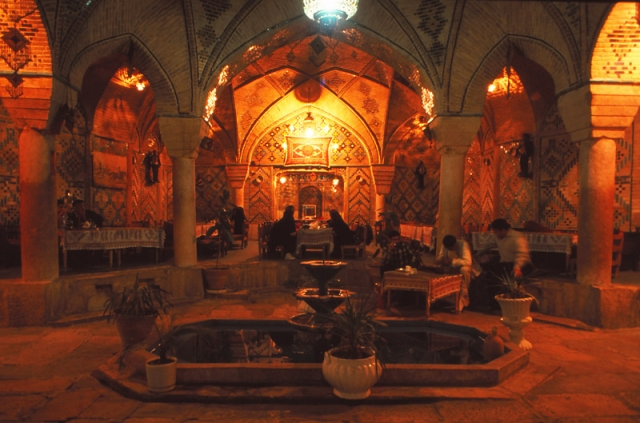 The subterranean Vakil Tea House in the city of Kerman