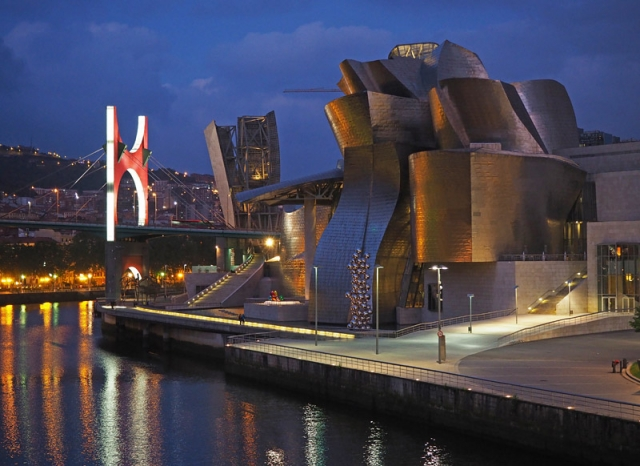 The Frank Gehry-designed, titanium-clad Guggenheim Museum is credited with reviving Bilbao