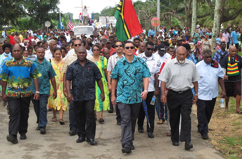 Vanuatu's Prime Minister Moana Carcasses Kalosil has called for a formal apology