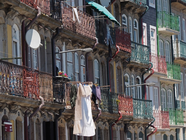Balconies in Porto, Portugal