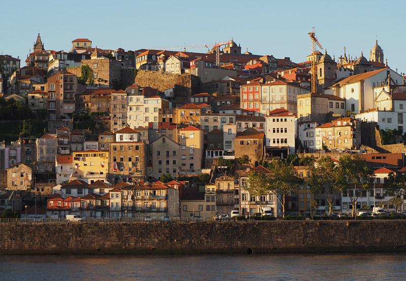 Facades climb the banks of the Rio Douro, Porto