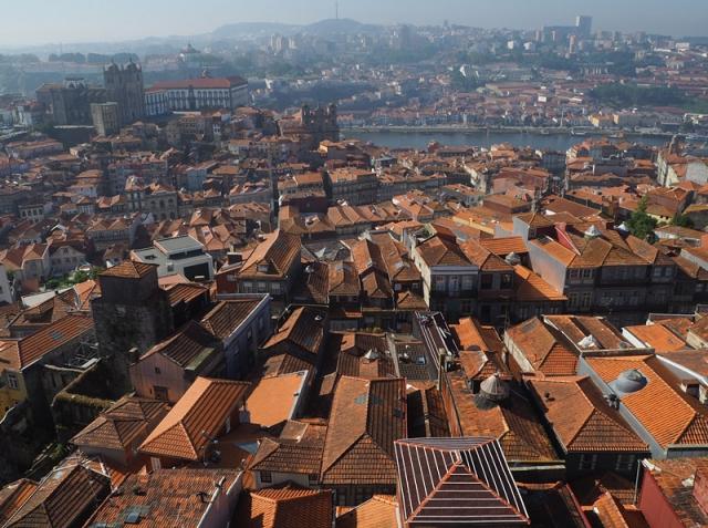 Porto's terracotta rooftops descend to the Rio Douro, Portugal