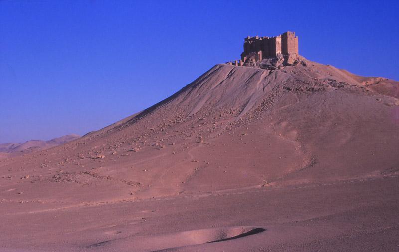 The 13th century Arab castle Qala'at ibn Maan