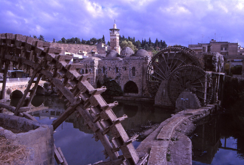 The water wheels of Hama have been pumping water from the Orontes River for close to 1000 years