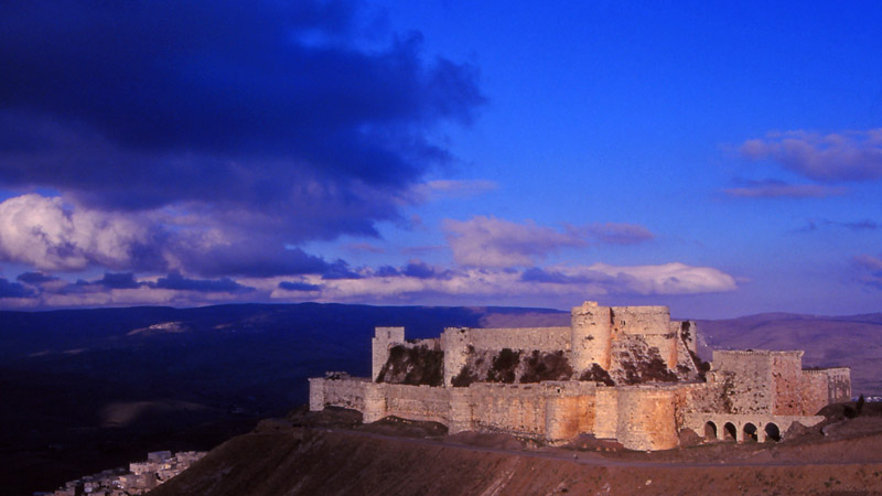 The crusader castle Krak des Chevalliers in 1995