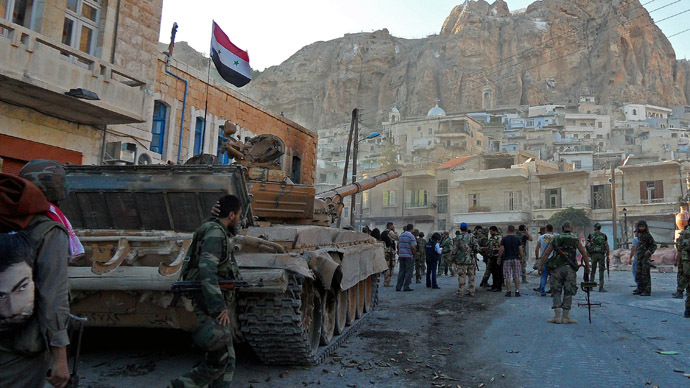Pro-government soldiers in Maaloula in 2013. Photo: AFP