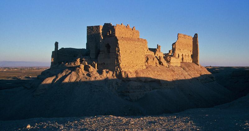 "Qala'at ar-Rahba (""The Citadel of Dread"") in eastern Syria, 1995"
